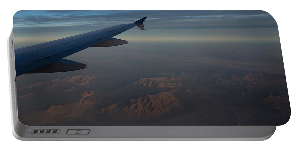 Mojave Desert Portable Battery Charger featuring the photograph Flying Over The Mojave Desert At Dawn by Georgia Mizuleva