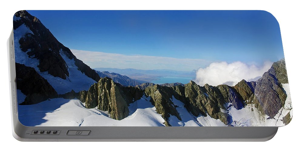 New Zealand Portable Battery Charger featuring the photograph Flying To Fox Glacier #2 by Stuart Litoff