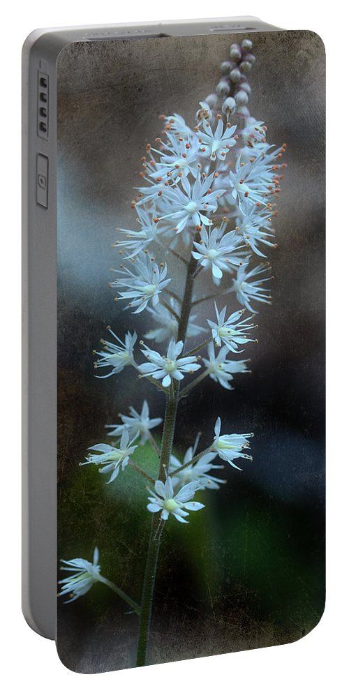 Foam Flower Portable Battery Charger featuring the photograph Foam Flower by Michael Eingle