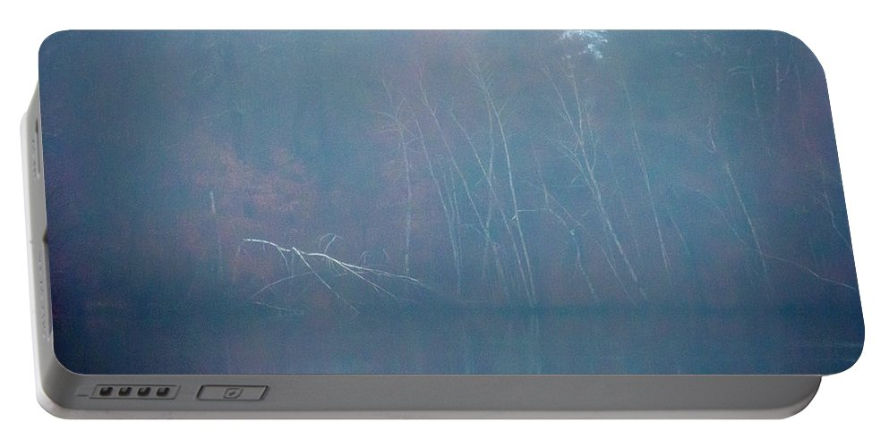 New England Portable Battery Charger featuring the photograph Fog And Fall by DAC Photo
