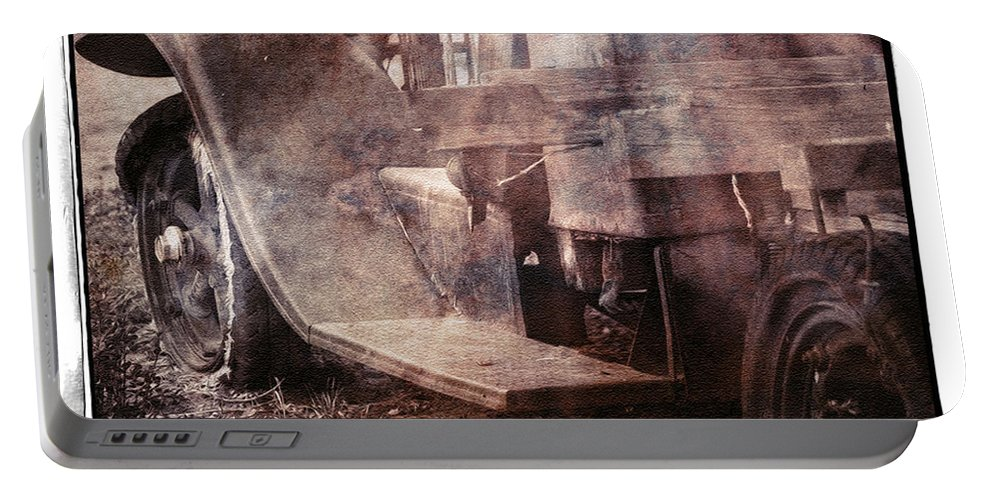 Truck Portable Battery Charger featuring the photograph Fog And Rust by Terry Fiala