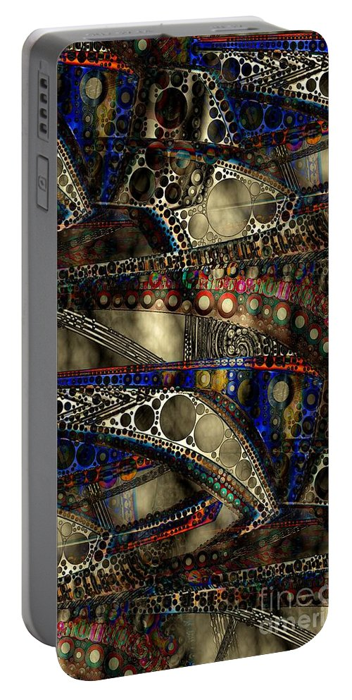 Abstract Portable Battery Charger featuring the digital art Fog Bank 2 by Ron Bissett