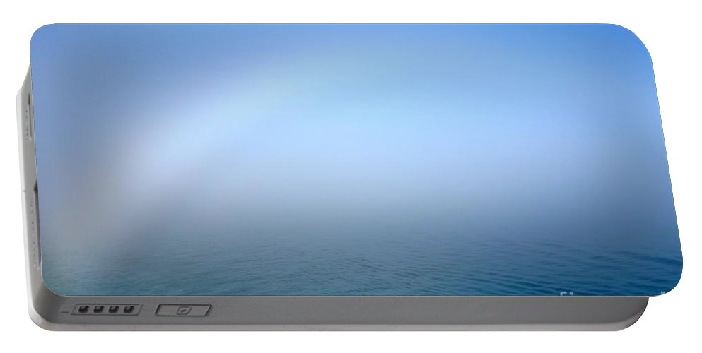 Fog Portable Battery Charger featuring the photograph Fog Rainbow by Jacqueline Athmann