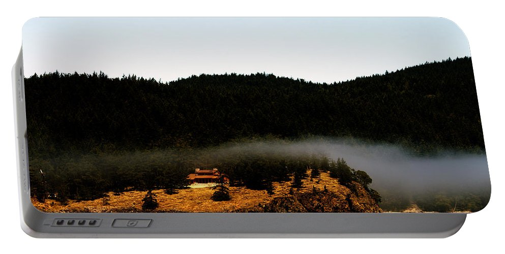 Fog Portable Battery Charger featuring the photograph Fog Rolling By by Edward Hawkins II