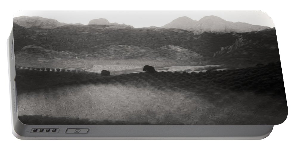 Spain Portable Battery Charger featuring the photograph Foggy Countryside by Tracy Winter
