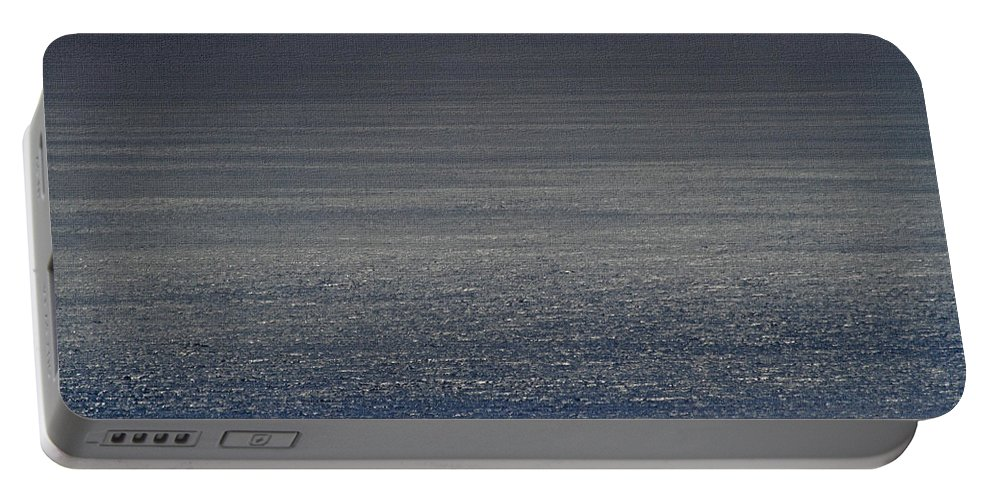 Foggy Day Over The Pacific Ocean Portable Battery Charger featuring the photograph Foggy Day Over The Pacific Ocean by Tom Janca