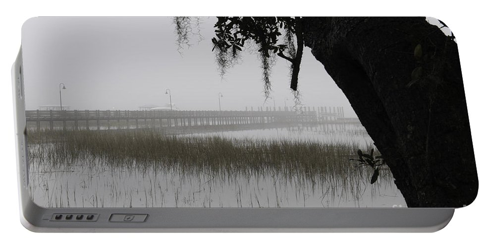 Fog Portable Battery Charger featuring the photograph Foggy Morning by Dale Powell