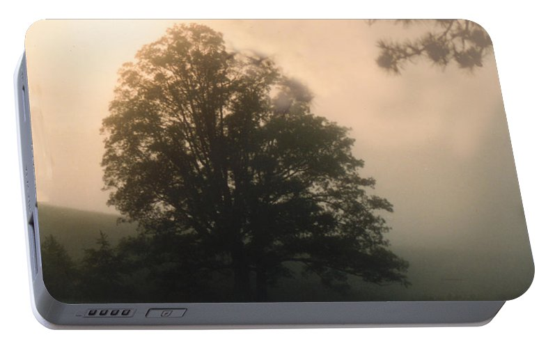 Sunrise Portable Battery Charger featuring the photograph Foggy Morning by Norman Johnson