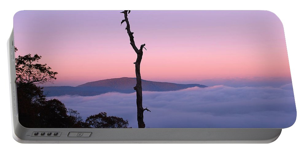 Shenandoah National Park Portable Battery Charger featuring the photograph Foggy Mountain Morning by Francie Davis