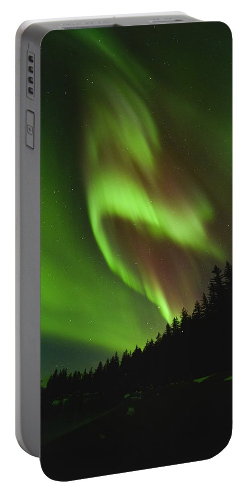 Aurora Portable Battery Charger featuring the photograph Fold In Space by Ted Raynor