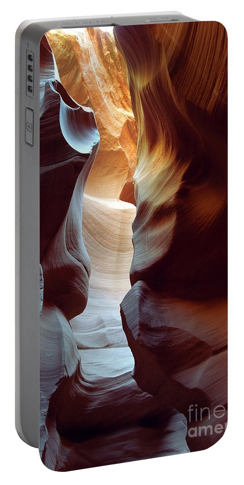 Slot Canyon Portable Battery Charger featuring the photograph Follow The Light II by Kathy McClure