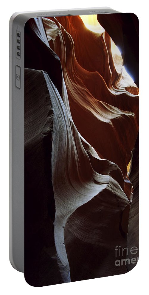 Antelope Canyon Portable Battery Charger featuring the photograph Follow The Light by Kathy McClure