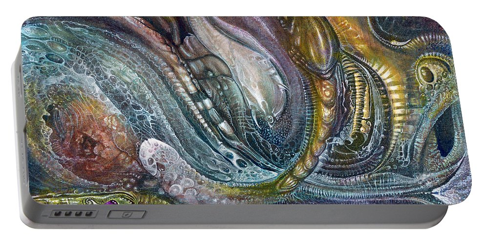 otto Rapp Portable Battery Charger featuring the painting Fomorii Interior II by Otto Rapp
