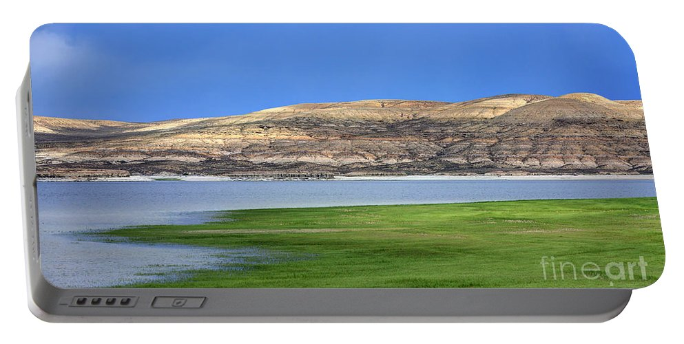 Fontenelle Portable Battery Charger featuring the photograph Fontenelle Reservoir Summer Thunderstorm by Gary Whitton