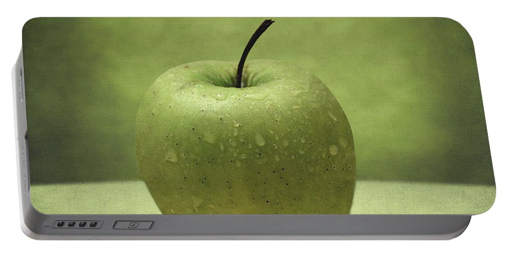 Apple Portable Battery Charger featuring the photograph Apple by Zapista