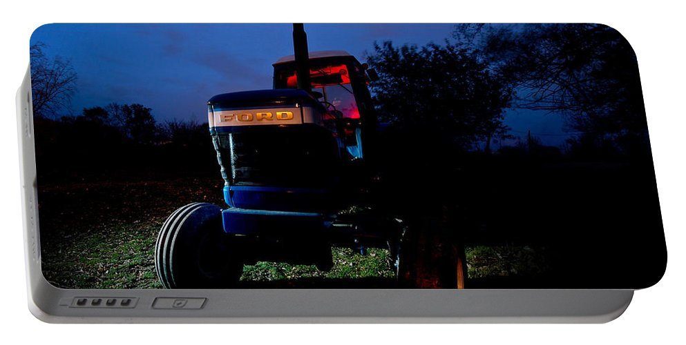 Tractor Portable Battery Charger featuring the photograph Ford Tractor by Cale Best