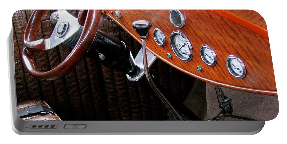 Ford V8 Portable Battery Charger featuring the photograph Ford V8 Dashboard by Mary Deal