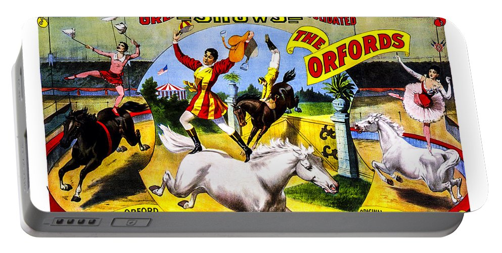 Circus Portable Battery Charger featuring the photograph Forepaugh And Sells The Orfords by Diana Powell