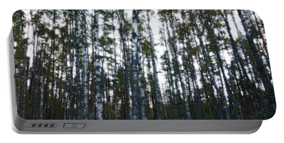 Finland Portable Battery Charger featuring the photograph Forest II by Kukka Lehto