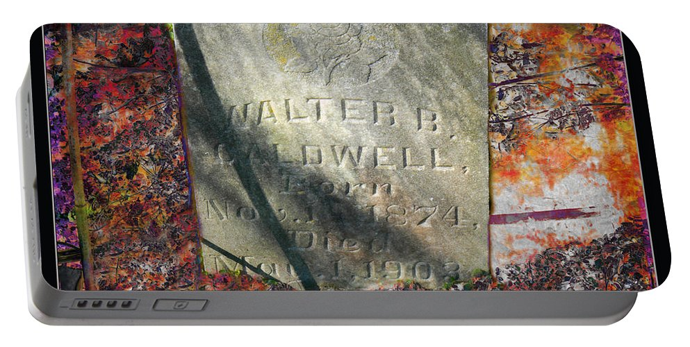 Grave Portable Battery Charger featuring the photograph Forever More by Ericamaxine Price