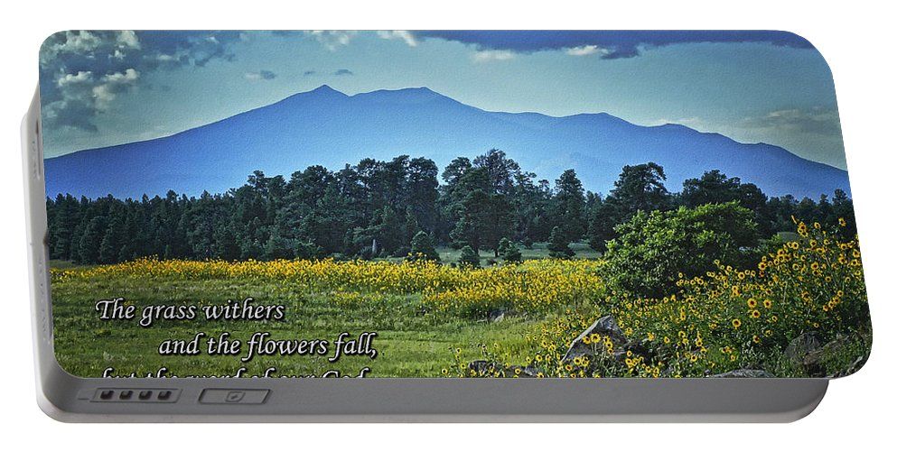 Mormon Lake Portable Battery Charger featuring the photograph Forever by Priscilla Burgers