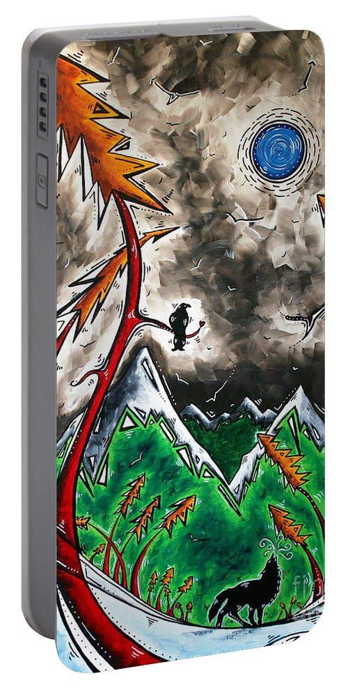 Art Portable Battery Charger featuring the painting Forever Wild Original Madart Painting by Megan Duncanson