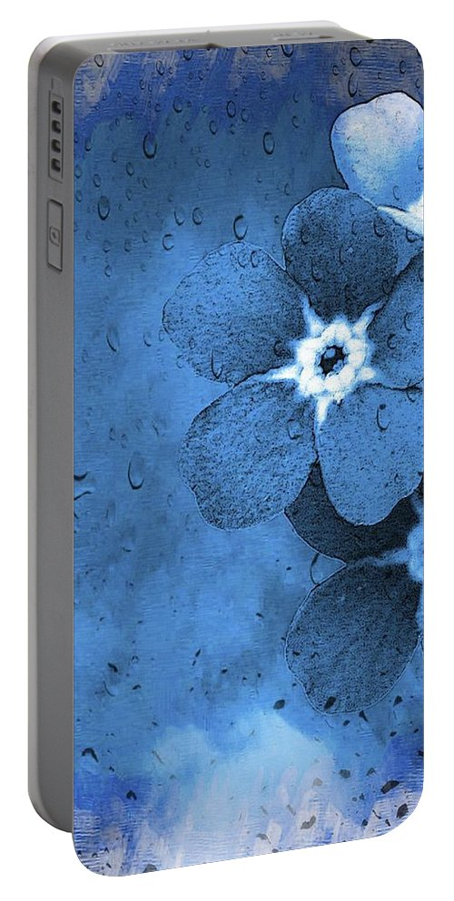 Flower Portable Battery Charger featuring the painting Flowers by FL collection