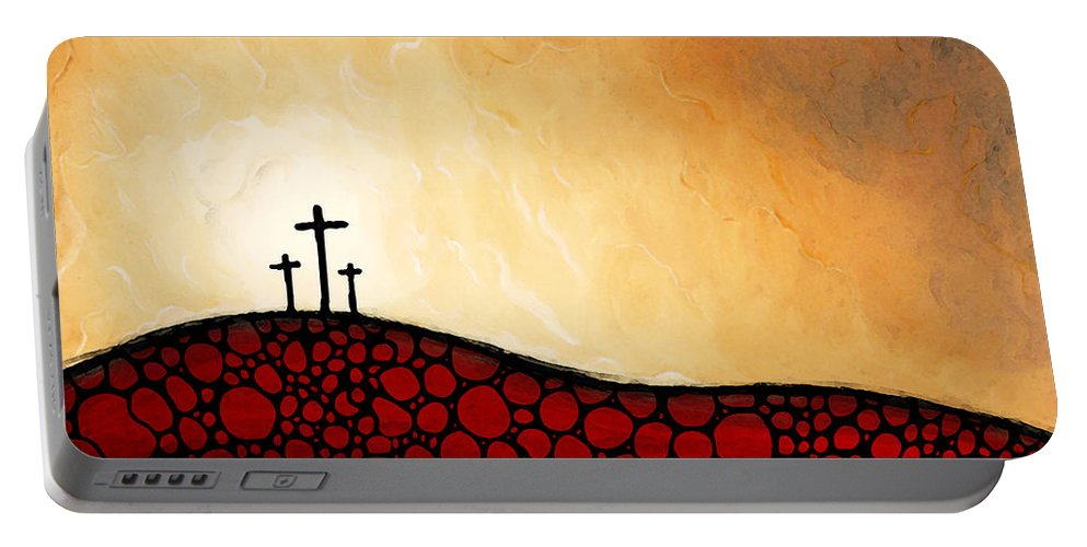 Christian Portable Battery Charger featuring the painting Forgiven - Christian Art By Sharon Cummings by Sharon Cummings