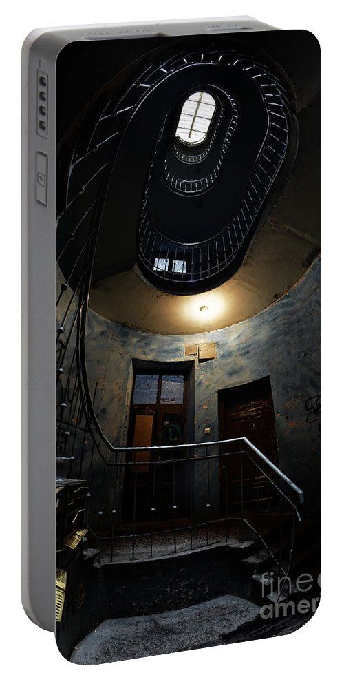 Staircase Portable Battery Charger featuring the photograph Forgotten Beauty by Jaroslaw Blaminsky