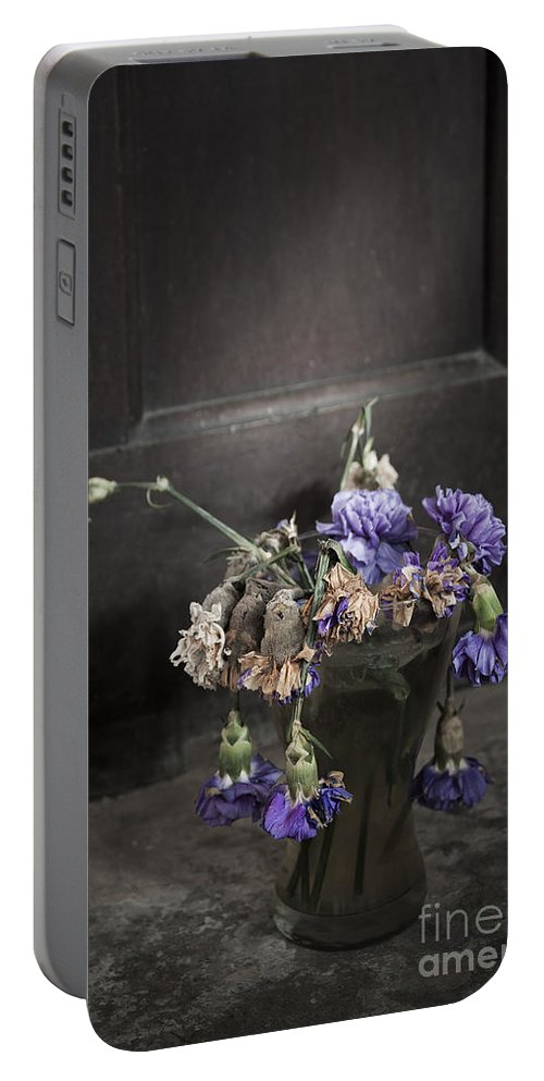 Dead Portable Battery Charger featuring the photograph Forgotten Flowers by Svetlana Sewell