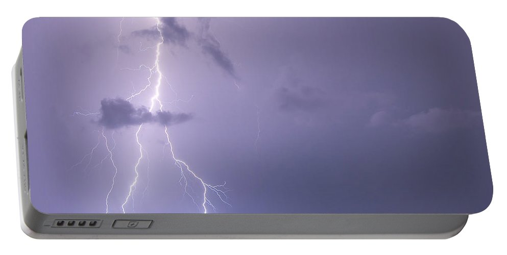 Forked Portable Battery Charger featuring the photograph Forked Skies by Stephen Whalen