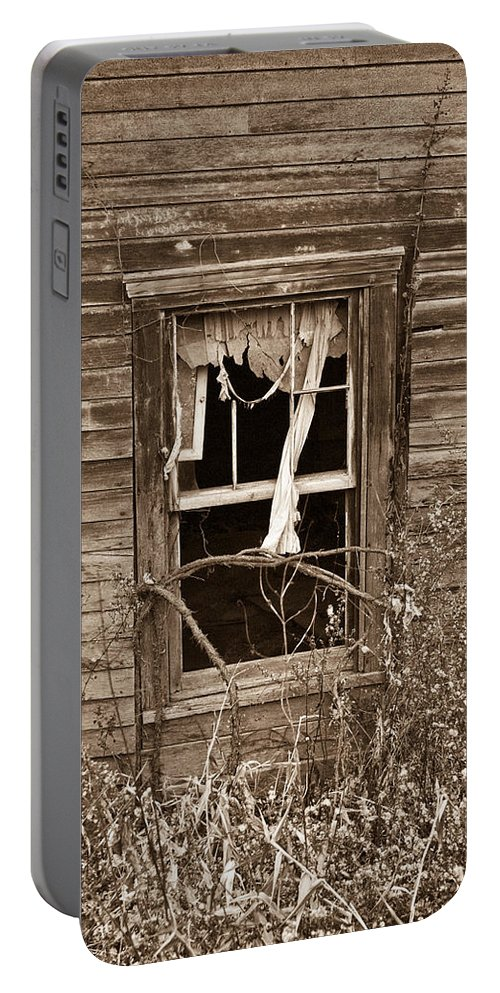 Forlorn Portable Battery Charger featuring the photograph Forlorn Window by Douglas Barnett