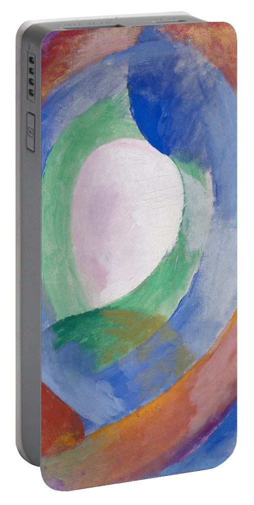 Robert Delaunay Portable Battery Charger featuring the painting Formes Circulaires by Robert Delaunay