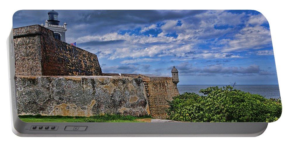 San Juan Portable Battery Charger featuring the photograph Fort San Felipe Del Morro by Olga Hamilton