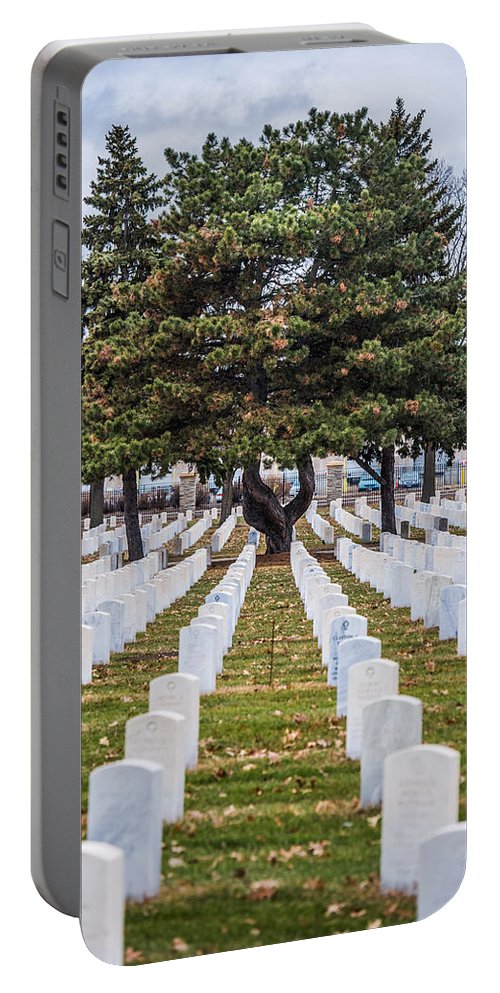 Fort Snelling Portable Battery Charger featuring the photograph Fort Snelling National Cemetery by Paul Freidlund