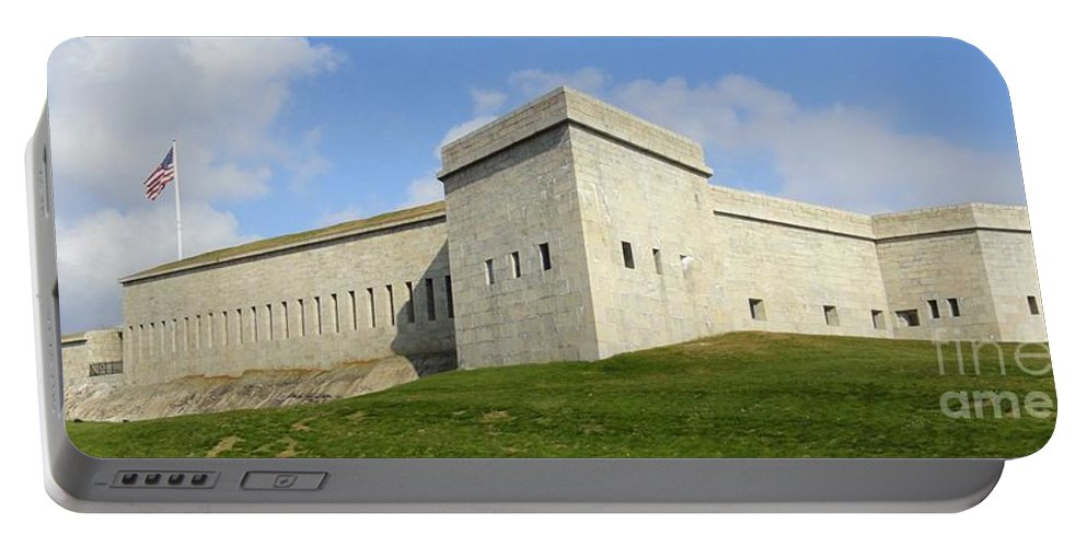 Fort Portable Battery Charger featuring the photograph Fort Trumbull by Meandering Photography