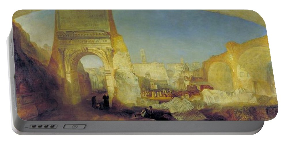 1826 Portable Battery Charger featuring the painting Forum Romanum by JMW Turner