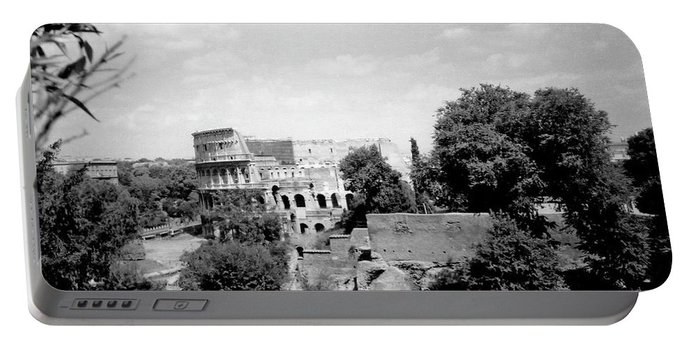 Forum Romanum Portable Battery Charger featuring the photograph Forum Romanum Rome Italy by Heike Hellmann-Brown