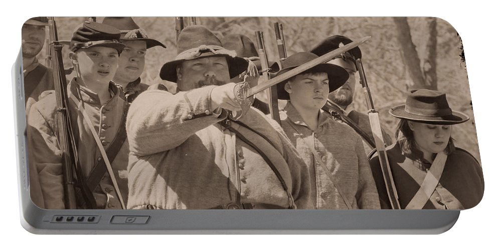 Soldiers Portable Battery Charger featuring the photograph Forward March by Kim Henderson