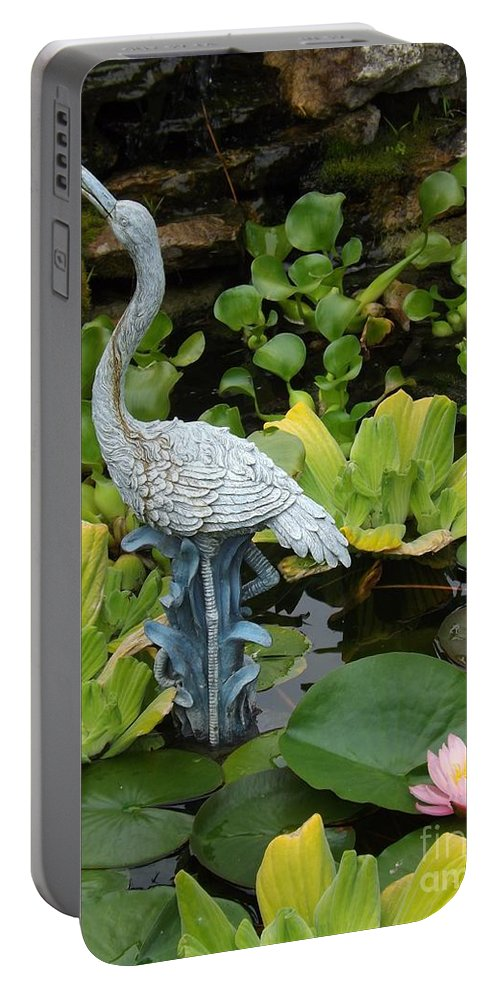 Flower Portable Battery Charger featuring the photograph Fountain Among Lilies by Sara Raber