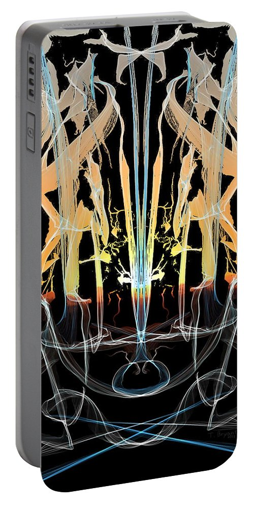 Fountain Portable Battery Charger featuring the digital art Fountain Of Happiness by Kume Bryant