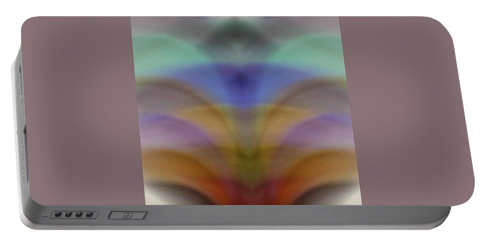 Red Portable Battery Charger featuring the photograph Fountain Of Pastel Color by Cindy New