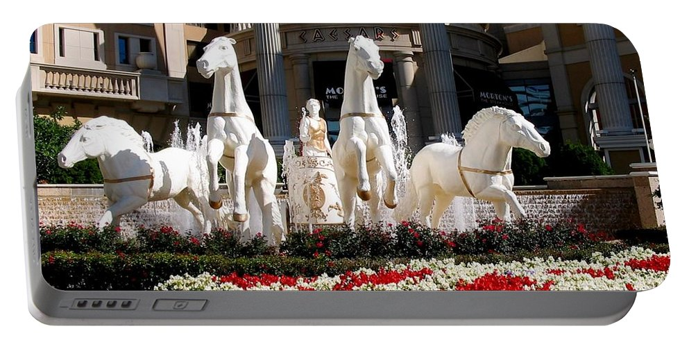 Fountain Statue Portable Battery Charger featuring the photograph Fountain Statue by Zina Stromberg