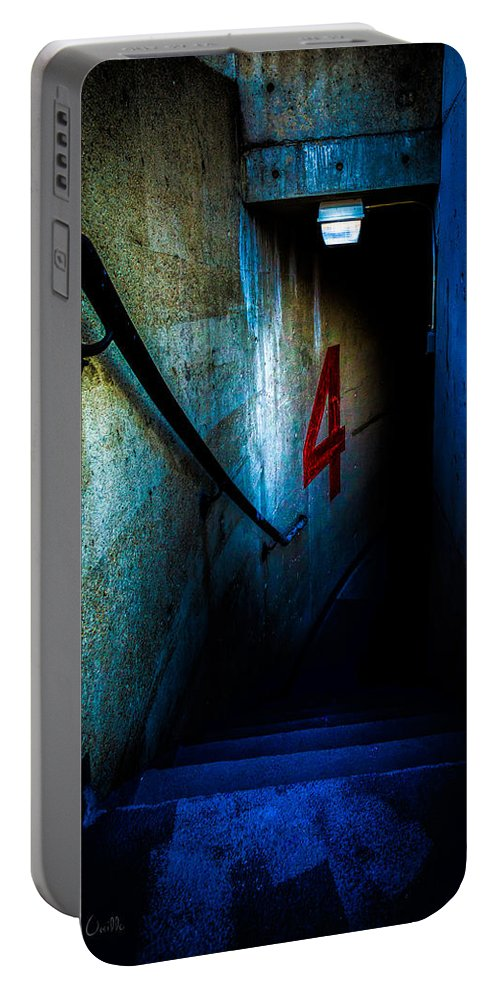 Four Portable Battery Charger featuring the photograph Four Down by Bob Orsillo