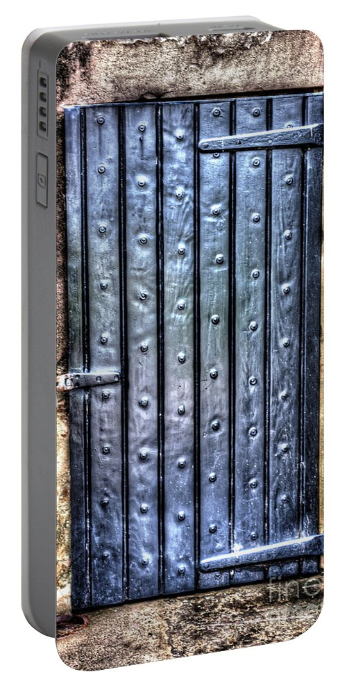 Fort Moultrie Portable Battery Charger featuring the photograph Fourt Moultrie Door by Dale Powell