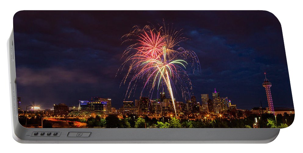 Denver Portable Battery Charger featuring the photograph Fourth Of July by John K Sampson