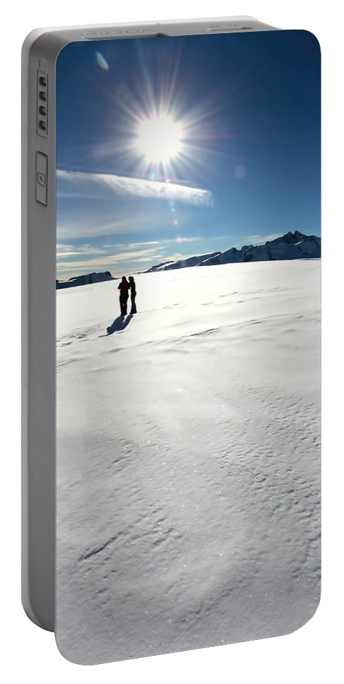 Amanda Stadther Portable Battery Charger featuring the photograph Fox Glacier by Amanda Stadther