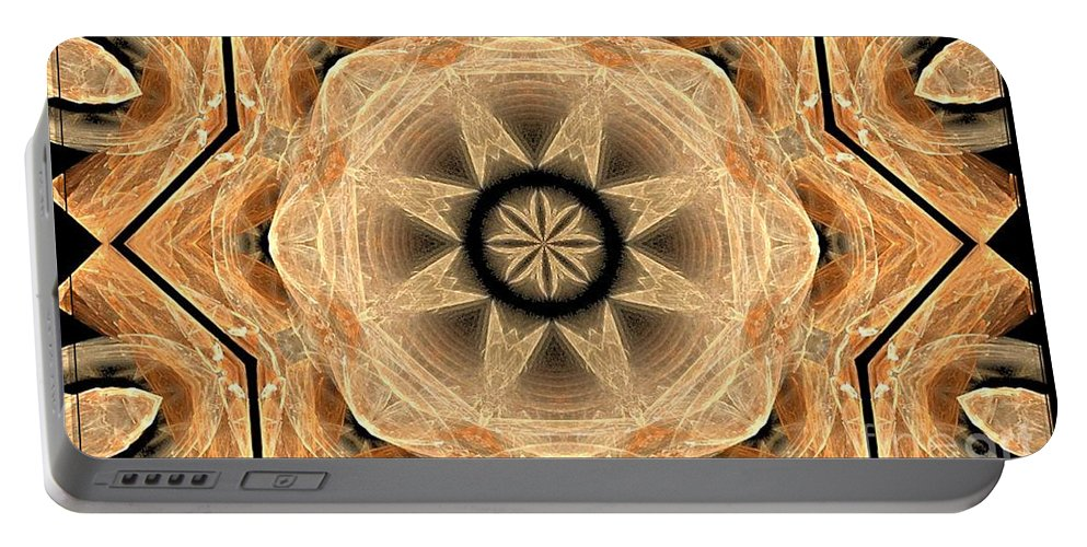 Fractal 013-2 Portable Battery Charger featuring the photograph Fractal 013-2 by Maria Urso