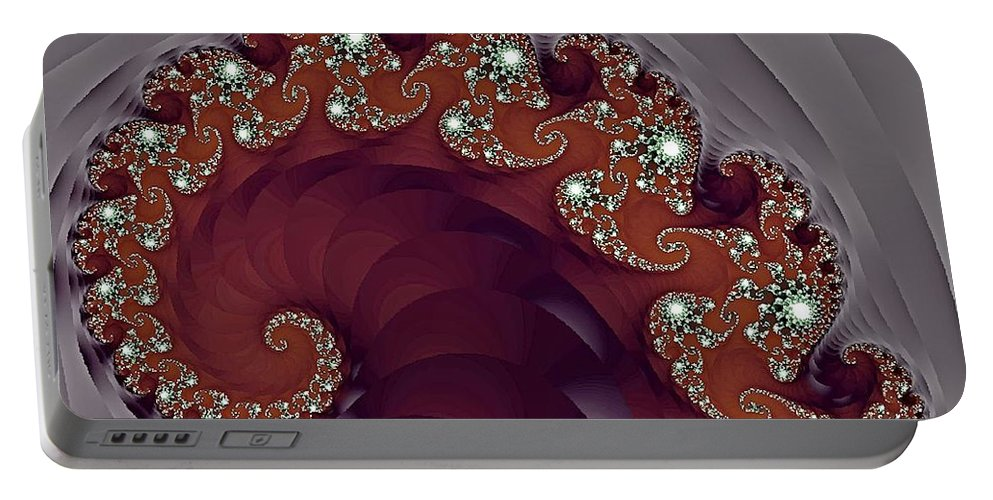 Fractal Portable Battery Charger featuring the photograph Bejeweled Tentacle by Lena Photo Art