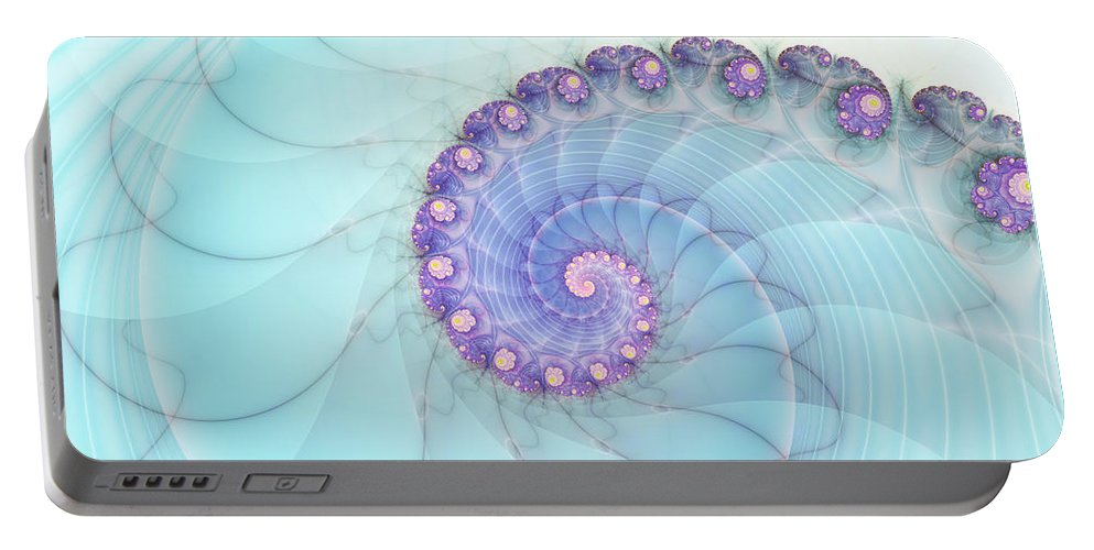 Fractal Portable Battery Charger featuring the digital art Fractal 17 by Lena Auxier